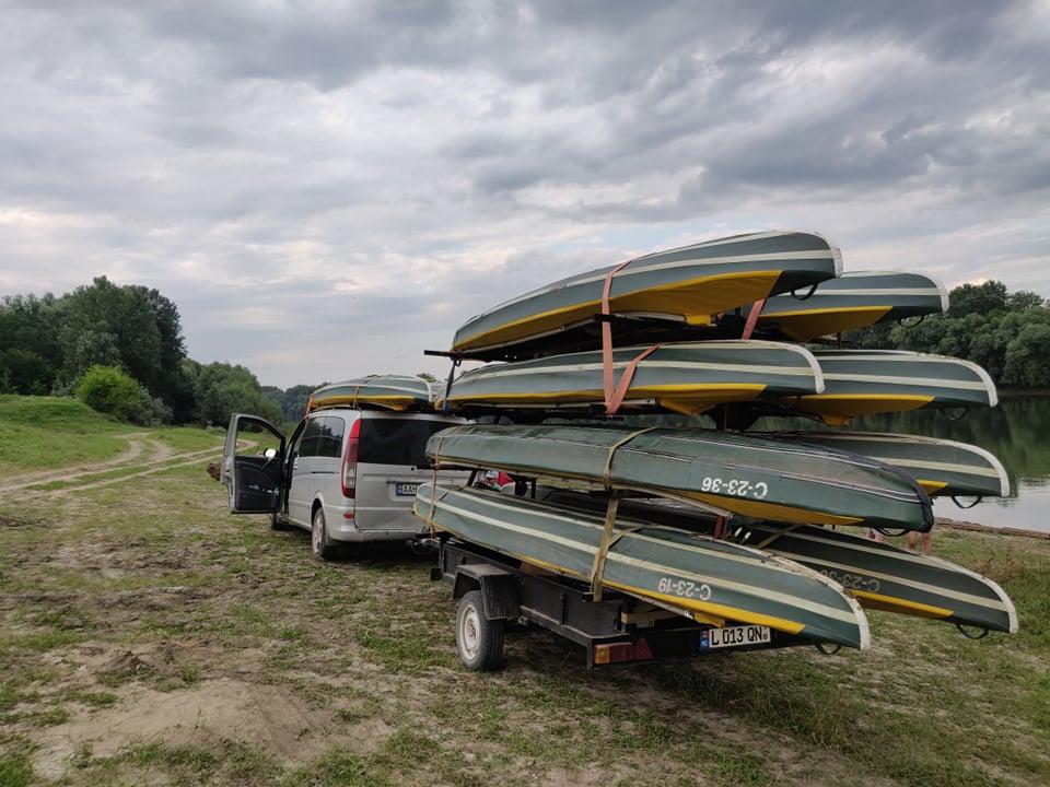 kayaking în Moldova
