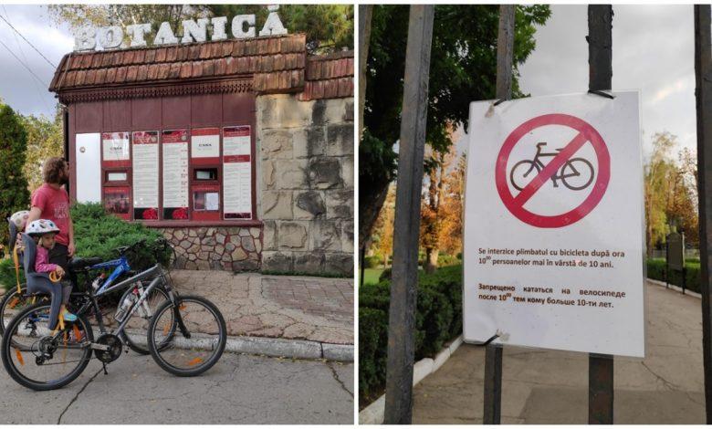 Photo of Bicicletele – interzise în Grădina Botanică din Chișinău