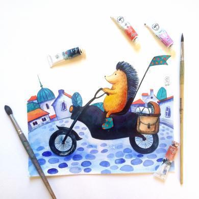 Elena Tomilova ilustrații pentru copii